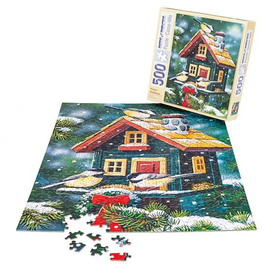 Winter Birdhouse Puzzle-500 Pieces