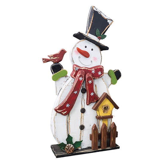 Wooden Snowman Entryway Greeter