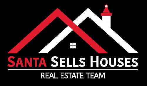 Santasellshouses logo inverse transparentbkg main logo copy 6