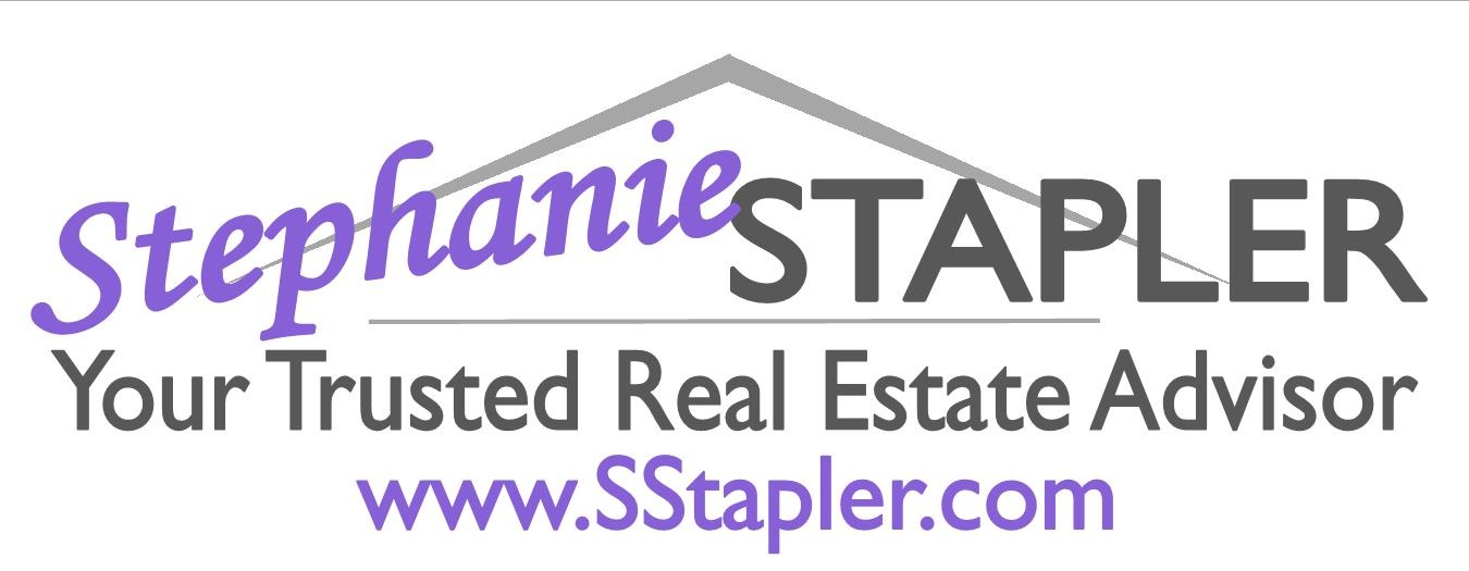 Purple logo on white with website