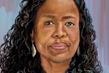Black women, oil painting