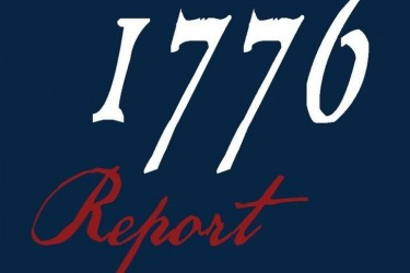 The cover of the report by President Trump's 1776 Commission
