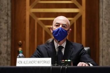 Alejandro Mayorkas testifies during confirmation hearing