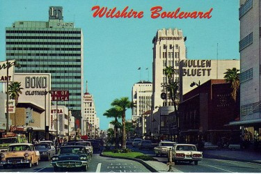 Postcard of Wilshire Boulevard