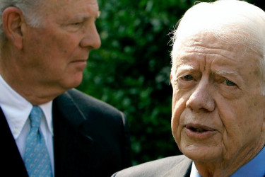 James Baker and Jimmy Carter.