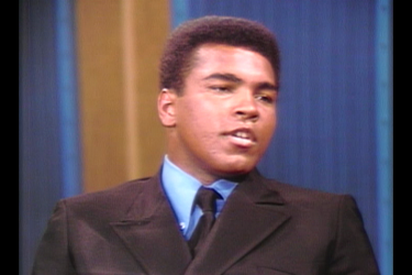 Muhammad Ali speaking on The Dick Cavett Show.