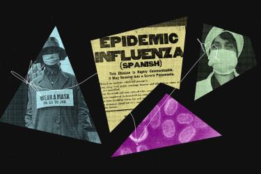 Geometric design of influenza epidemic