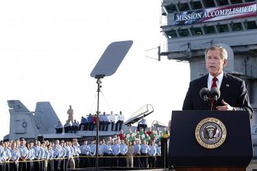 George W. Bush giving speech