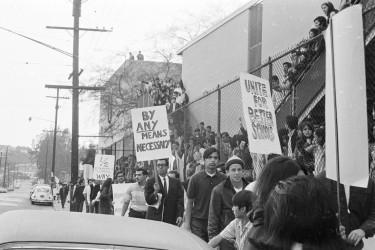 Walkout participants in East LA in 1968.