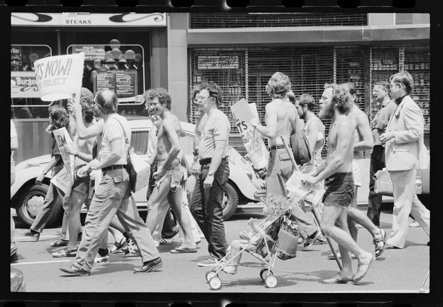 Gay rights demonstration at the Democratic National Convention, New York City