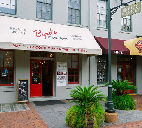 Byrd's Famous Cookies at City Market Entrance