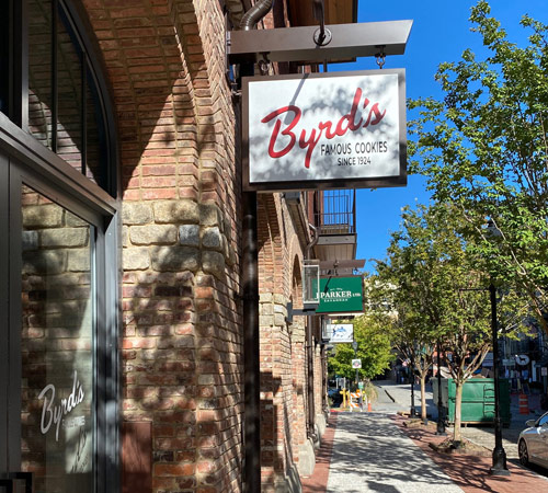 Byrd's Famous Cookies on Plant Riverside Entrance