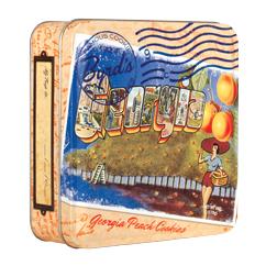 Travel Postcard 6 oz Tin - Georgia Peach Cookies