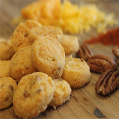 Cheddar Pecan Biscuits with real cheddar cheese
