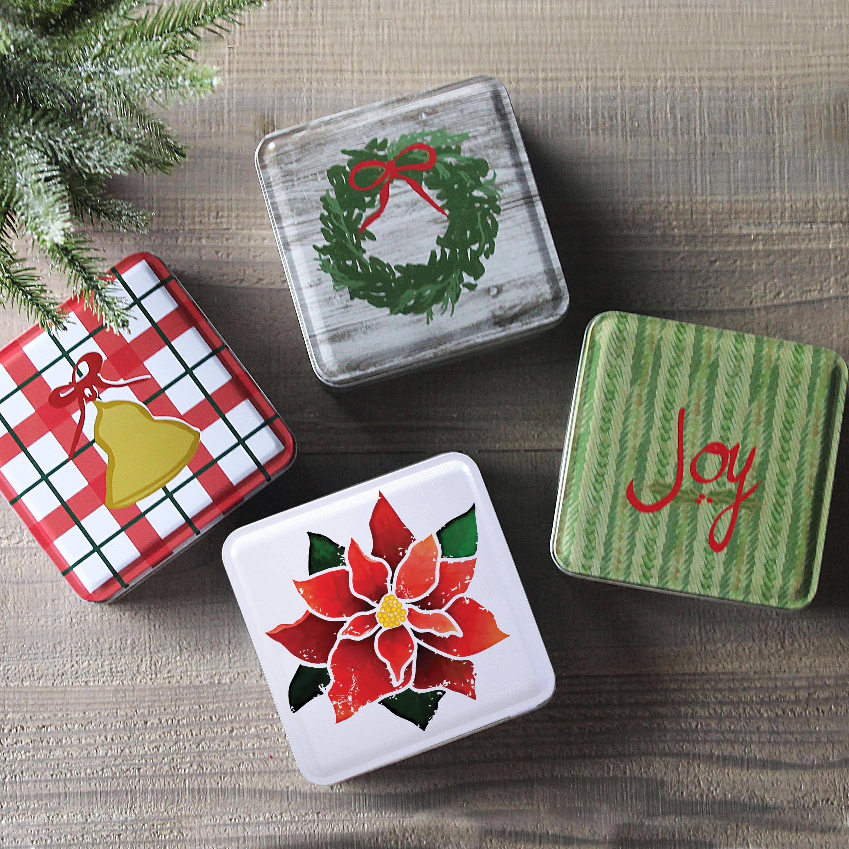 Holiday 4 Tin Gift Set