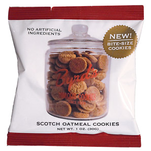 Scotch Oatmeal Cookie, 25 - 1 oz Snack Packs