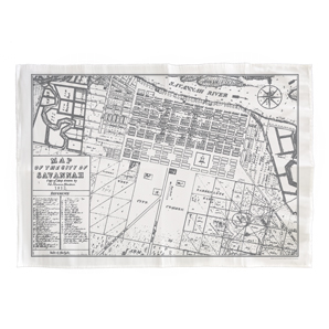 Savannah Map Tea Towel