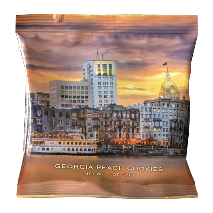 Georgia Peach - Savannah Riverfront Cookie 1 oz Snack Packs - Georgia Peach Savannah Riverfront, 50 - 1 oz Snack Packs