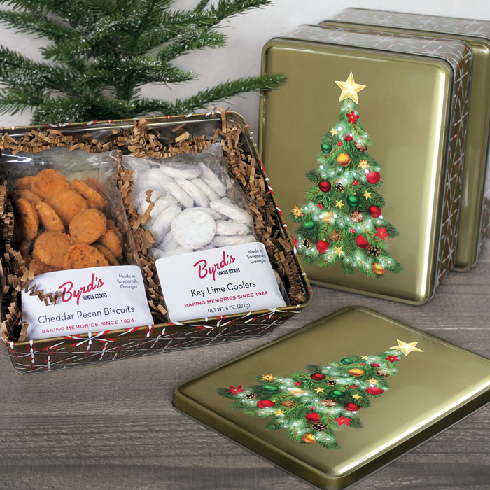 Christmas Tree Gift Tin