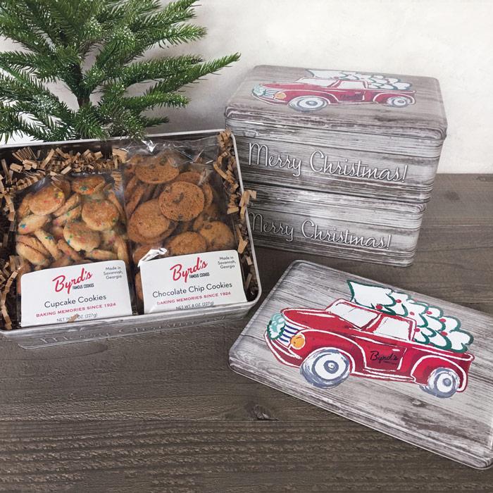 Christmas Truck Gift Tin