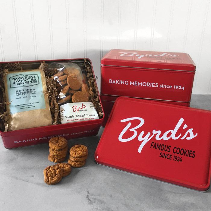 Red Heritage Byrd Tin - Cookies & Coffee
