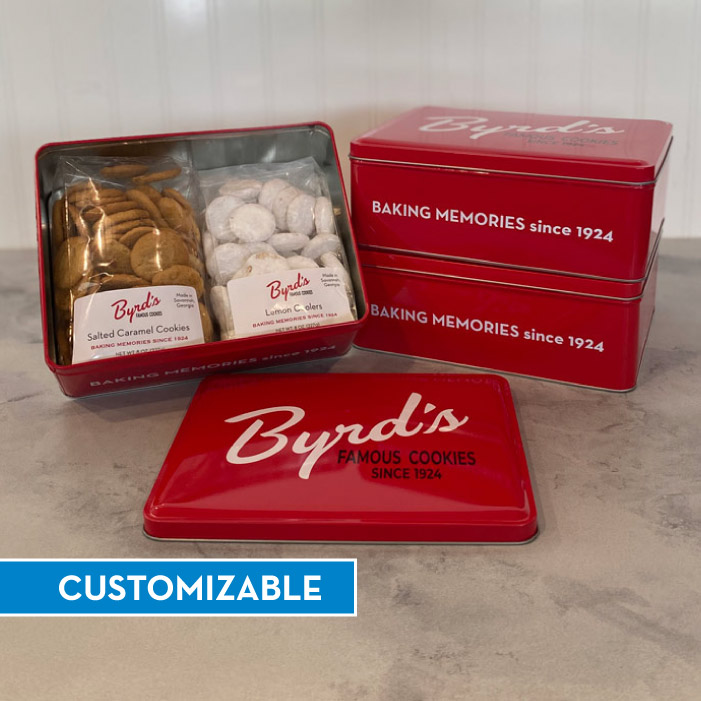 Red Signature Byrd Tin - CUSTOM