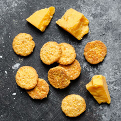 Cheddar Crisps with Cheddar Cheese