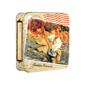 Travel Postcard 6 oz Tin - Cheddar Pecan Biscuits