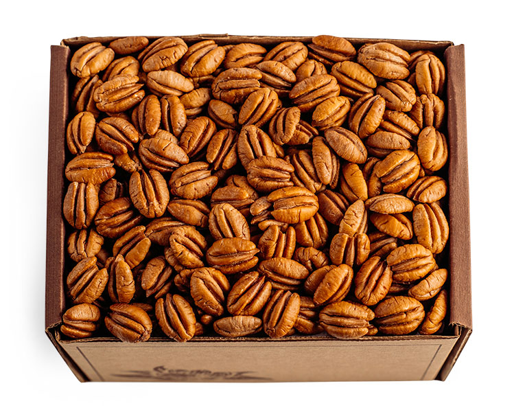 Three Pound and Five Pound Boxes of Elliott Pecans by Cane River
