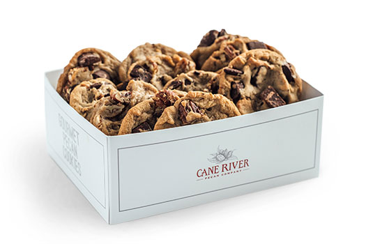 12 Piece Assortment of Cane River Pecan Cookies in Gift Tin
