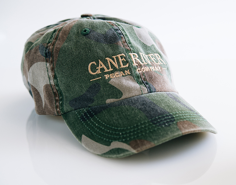 Camouflage Cane River Pecan Company Adjustable Cap