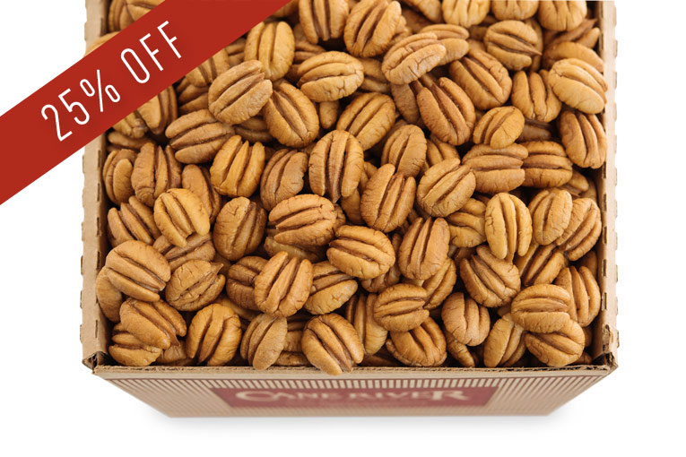 Three Pound and Five Pound Boxes of Elliot Pecans by Cane River