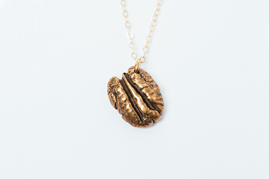 Bronze Cane River Pecan Necklace by Madeline Ellis