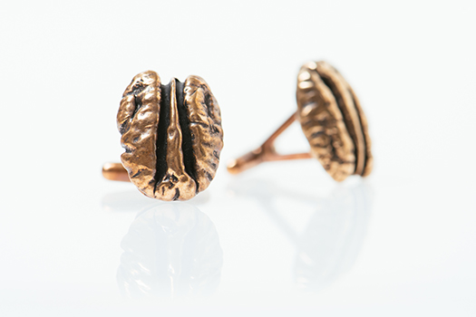 Bronze Cane River Pecan Cufflinks by Madeline Ellis