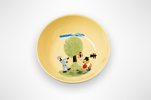 "Clementine Hunter ""A Day at Melrose Plantation"" Round Platter"