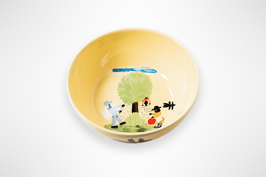 Clementine Hunter Pecan Threshing Dinner Plate
