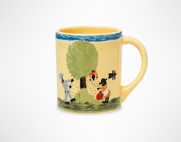 Clementine Hunter Pecan Threshing Mug