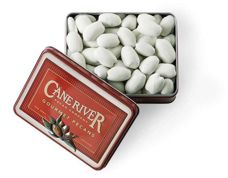 Cane River Pecan Company White Chocolate Coated Pecan Gift Tins