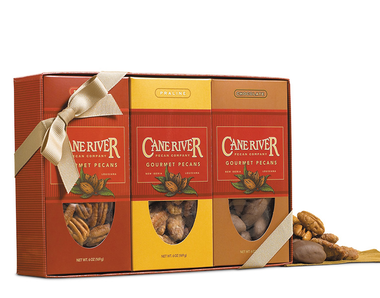 Salted, Chocolate and Praline Pecan Gift Box Sampler