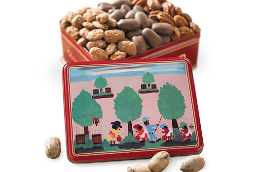 Cane River Pecan Company Clementine Hunter Assorted Pecan Gift Tins