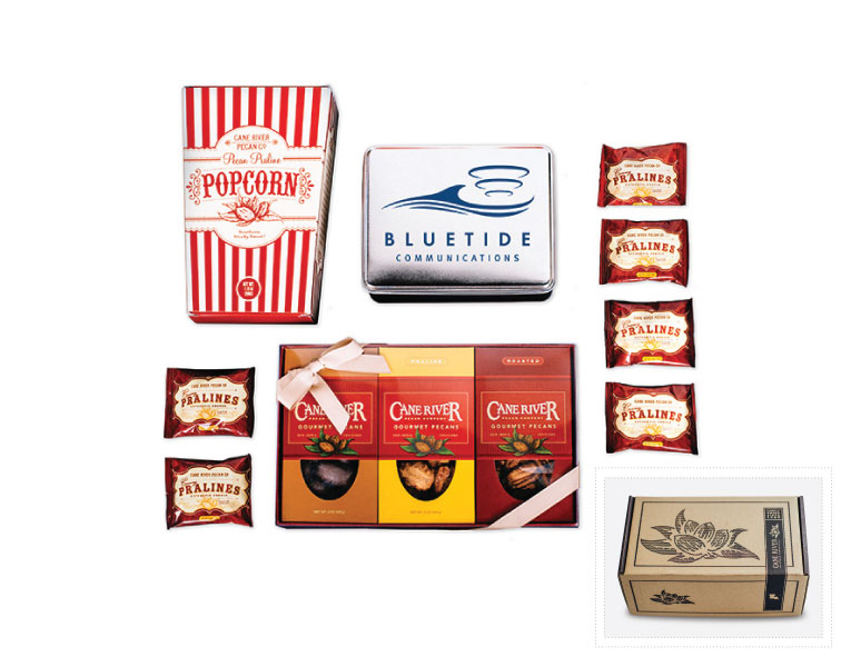 Cane River Pecan Snack Variety Custom Corporate Gift Box