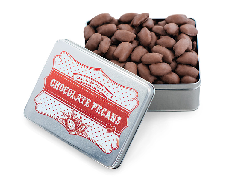 Valentine Tin Milk Chocolate Pecans