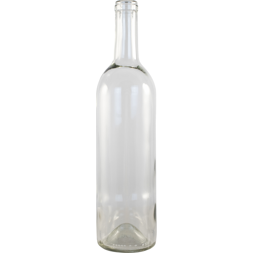 750mL Clear Bordeaux wine bottles Case of 12