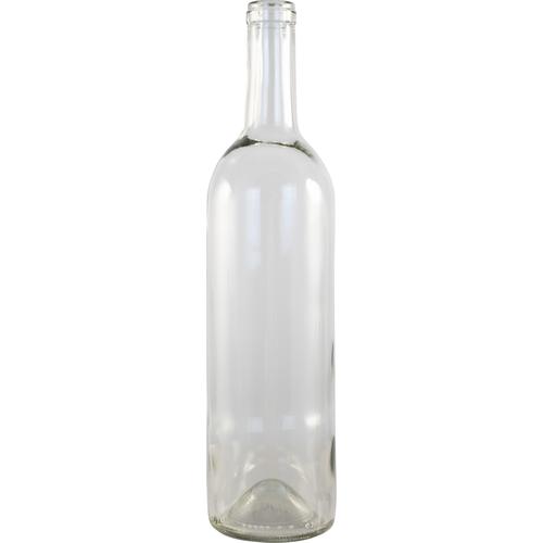 750mL Clear Bordeaux wine bottles Case of 12