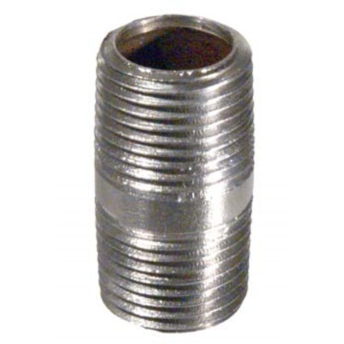 "Nipple, Stainless 1/2"" x 1.5"""
