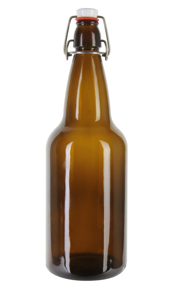 EZ Cap 1 liter Amber Flipper - single