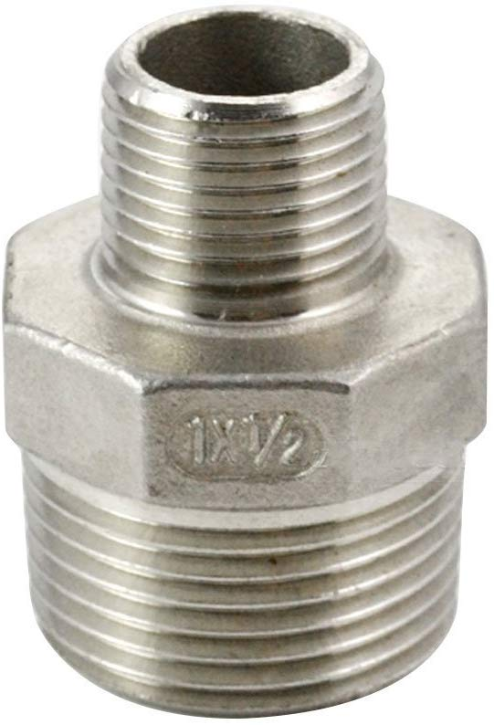 "Nipple, Stainless 1/2"" x 1\"" Threaded"