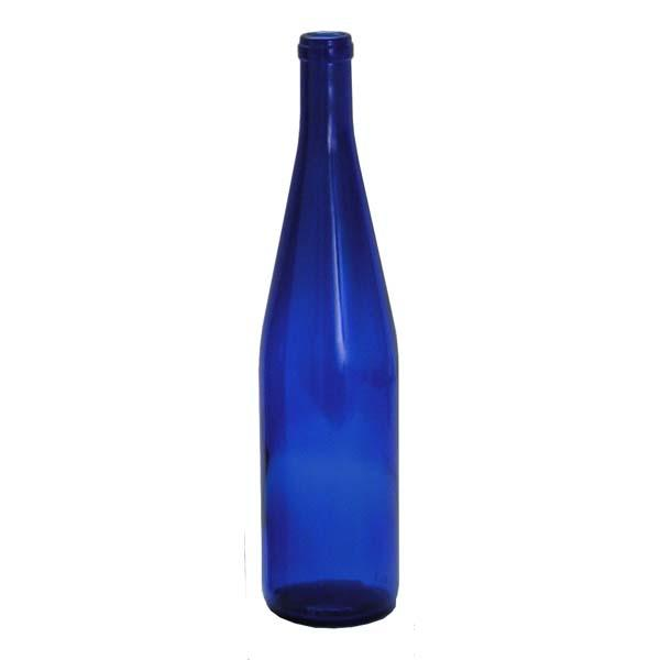 750mL California Hock Cobalt Blue wine bottles Case of 12