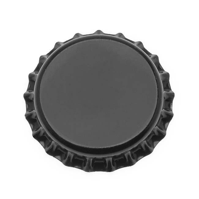 Black Crown Caps - 144 Pk