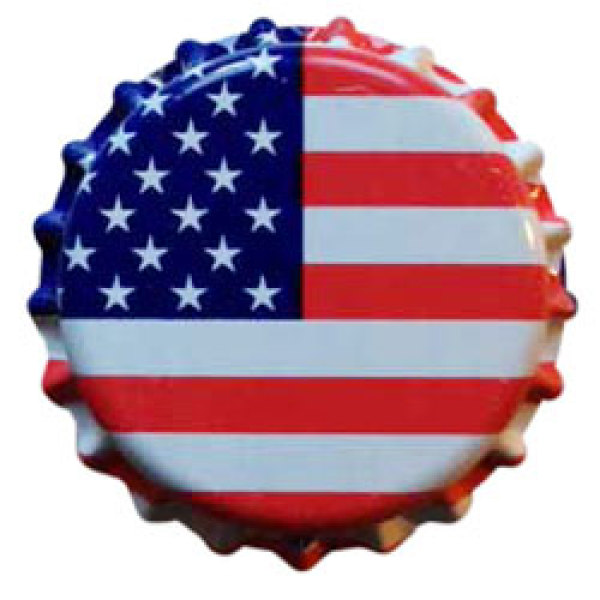 American Flag Crown Caps - 144 Pk